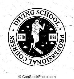 Scuba diving school.