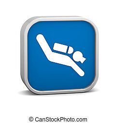 Scuba Diving sign on a white background. Part of a series.