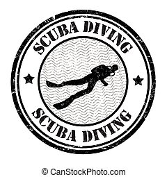 Scuba diving stamp
