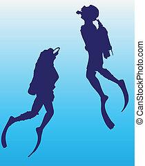 scuba duiker