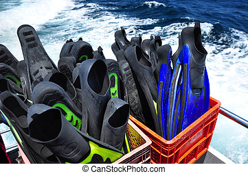 Scuba fins with Clipping Path
