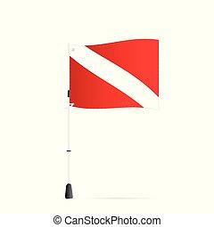 Scuba Flag, Illustration