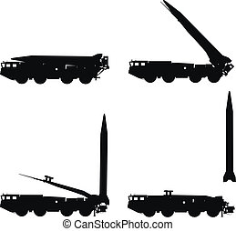 Scud launcher - Scud missile launcher detailed silhouettes...