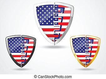 scudo, giorno, stati uniti, indipendenza