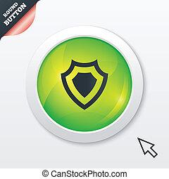 scudo, segno, icon., protezione, simbolo.
