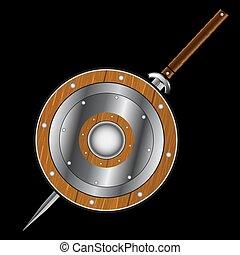 scudo, sword.