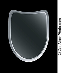 scudo, vettore, nero