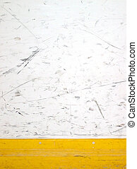 hockey boards - scuffed hockey boards