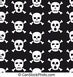 Sculls seamless pattern - Skulls and crossbones seamless...