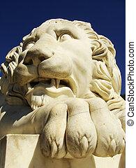 Sculptire of Medici lion, southern facade of Vorontsov...