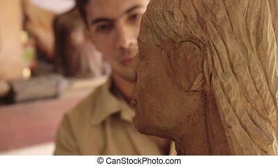 Sculptor, young artist, art, crafts