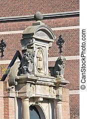 Sculptural composition in Dordrecht, Netherlands