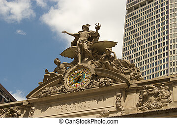 Sculpture above Grand Central Station, NYC