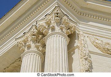 details of ancient columns
