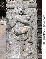sculpture., dwarapalaka, thiruvannamalai, annamalaiyar,...
