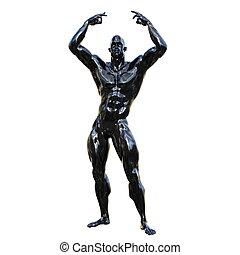 sculpture, homme