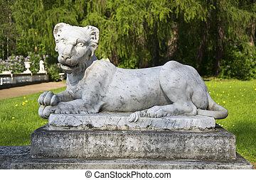 sculpture in park the Arkhangelsk