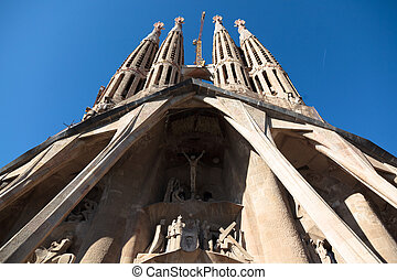 Sculpture in the exterior of the cathedral - BARCELONA,...