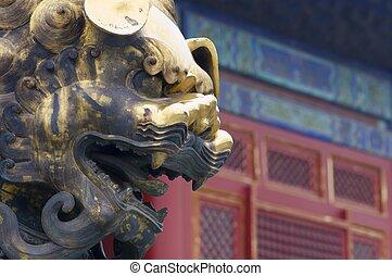 Forbidden City - Sculpture in the Forbidden City, Beijing,...