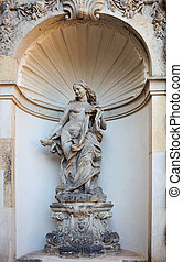 sculpture in the palace in Dresden, eastern Germany, built ...