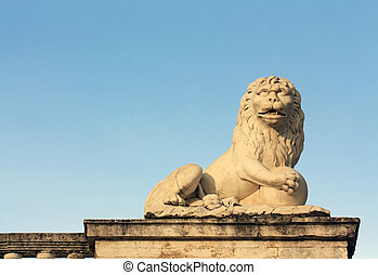 Sculpture of a lion in classical style