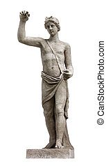 In Greek and Roman mythology Apollo was the son of Zeus and Leto, and the twin of Artemis (identified with the Roman Diana). Apollo was the god of poetry, music, archery, prophecy, law and justice.