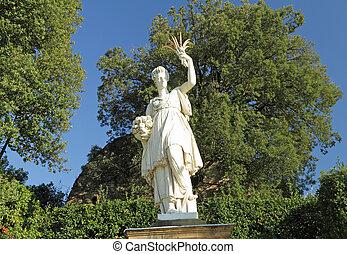 Sculpture of Ceres ( greek Demeter ) ancient roman goddess -...