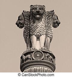 sculpture of emblem of India