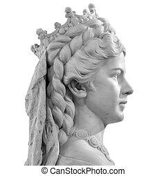 Sculpture of Empress Elisabeth of Austria and Queen of...