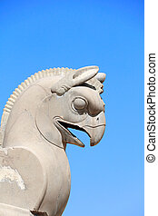 Sculpture of griffin in Persepolis, Iran