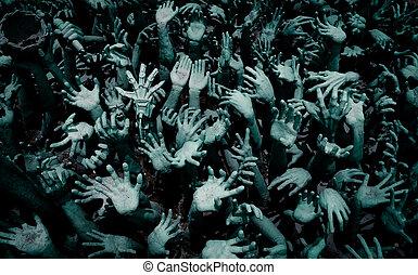 sculpture of hands art abstract