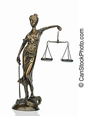 sculpture of justice - sculpture of justitia, symbolic photo...