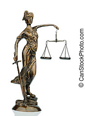 sculpture of justitia, symbol photo for equity and justice