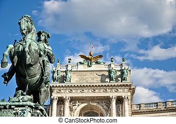 sculpture of prince eugen in front of vienna's hofburg