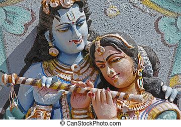 Sculpture of Radha Krishna