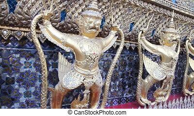 Sculpture of Rakshasa in Temple of