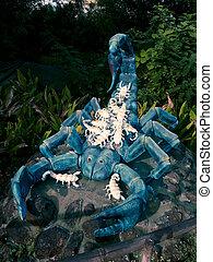 Sculpture of Scorpion in a Garden