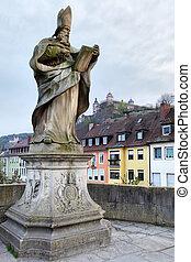 Old bridge in Wurzburg