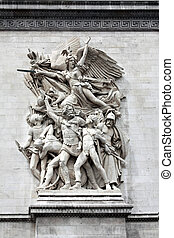 Sculpture on the Arch of Triumph