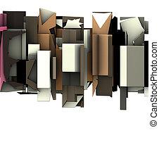 sculpture, render, résumé, flotter, graffiti, 3d