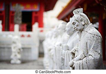 Confucius Shrine - Sculptures at Confucius Shrine in...