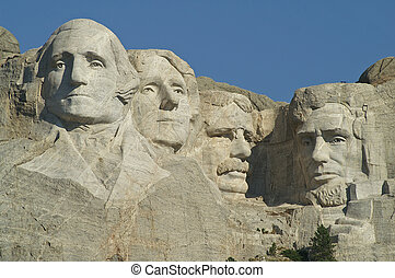Mount Rushmore National Memorial - Sculptures of George...