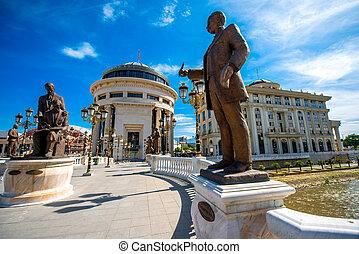Sculptures on the Art bridge in Skopje - Sculptures of ...