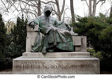 scultura, di, anonimo