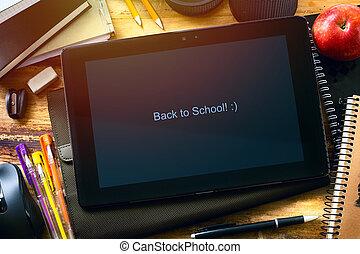 scuola, arte, indietro, fondo