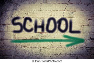 scuola, concetto
