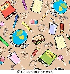 scuola, disegno, indietro
