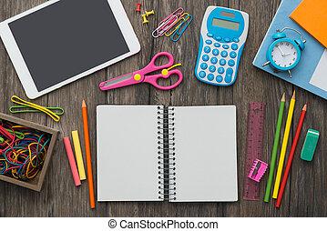 scuola, e, tecnologia