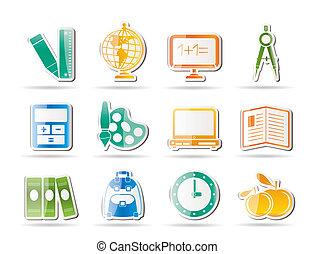 scuola, educazione, icone