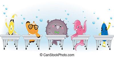 scuola, fish